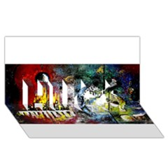 Abstract Music Painting HUGS 3D Greeting Card (8x4)