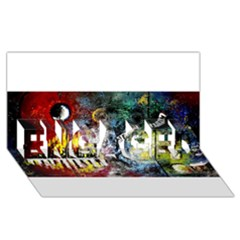Abstract Music Painting Engaged 3d Greeting Card (8x4)
