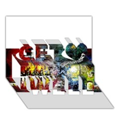 Abstract Music Painting Get Well 3d Greeting Card (7x5)