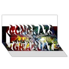 Abstract Music Painting Congrats Graduate 3d Greeting Card (8x4)