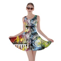 Abstract Music Painting Skater Dresses