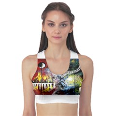 Abstract Music Painting Sports Bra