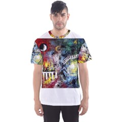 Abstract Music Painting Men s Sport Mesh Tees