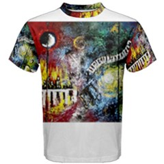 Abstract Music Painting Men s Cotton Tees