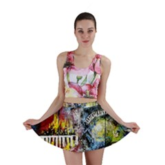 Abstract Music Painting Mini Skirts