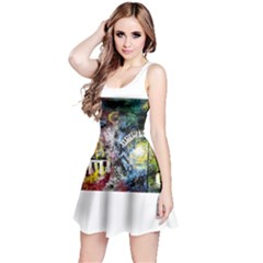 Abstract Music Painting Reversible Sleeveless Dresses