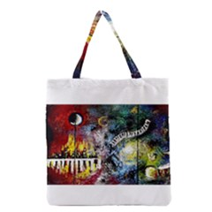 Abstract Music Painting Grocery Tote Bags