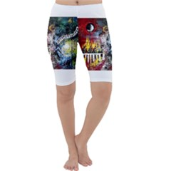 Abstract Music Painting Cropped Leggings