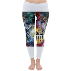 Abstract Music Painting Winter Leggings