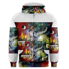 Abstract Music Painting Men s Zipper Hoodies