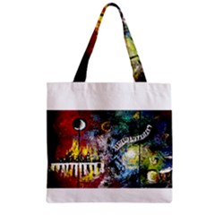 Abstract Music Painting Zipper Grocery Tote Bags
