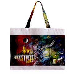 Abstract Music Painting Zipper Tiny Tote Bags