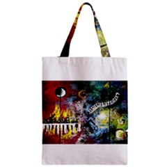 Abstract Music Painting Zipper Classic Tote Bags