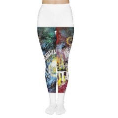 Abstract Music Painting Women s Tights