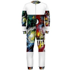 Abstract Music Painting Onepiece Jumpsuit (men)