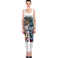 Abstract Music Painting Onepiece Catsuits