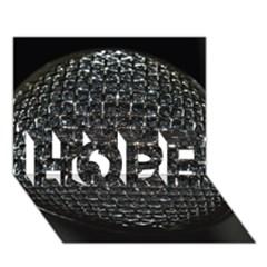 Modern Microphone Hope 3d Greeting Card (7x5)