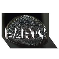 Modern Microphone Party 3d Greeting Card (8x4)