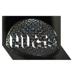 Modern Microphone HUGS 3D Greeting Card (8x4)