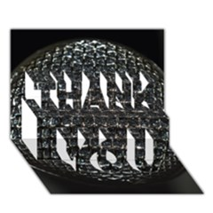 Modern Microphone THANK YOU 3D Greeting Card (7x5)
