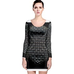 Modern Microphone Long Sleeve Bodycon Dresses