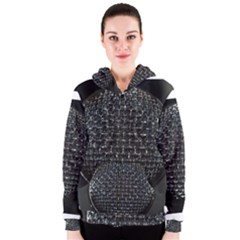 Modern Microphone Women s Zipper Hoodies