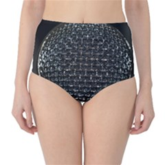 Modern Microphone High-Waist Bikini Bottoms