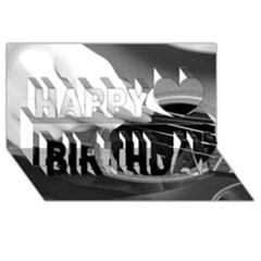 Guitar Player Happy Birthday 3d Greeting Card (8x4)