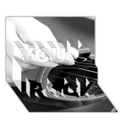 Guitar Player You Rock 3d Greeting Card (7x5)
