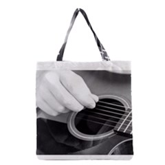 Guitar Player Grocery Tote Bags