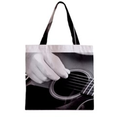 Guitar Player Zipper Grocery Tote Bags