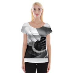 Guitar Player Women s Cap Sleeve Top