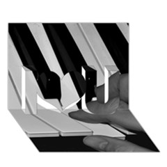 The Piano Player I Love You 3D Greeting Card (7x5)