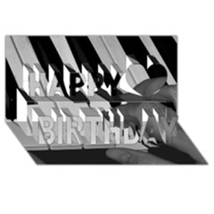 The Piano Player Happy Birthday 3d Greeting Card (8x4)