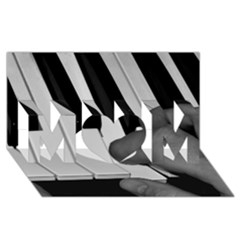 The Piano Player Mom 3d Greeting Card (8x4)