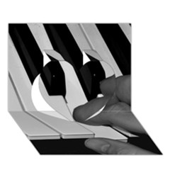 The Piano Player Heart 3D Greeting Card (7x5)