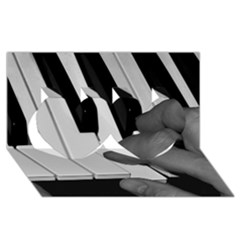The Piano Player Twin Hearts 3d Greeting Card (8x4)