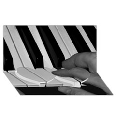The Piano Player Twin Heart Bottom 3d Greeting Card (8x4)