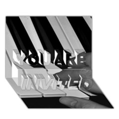 The Piano Player YOU ARE INVITED 3D Greeting Card (7x5)