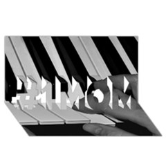 The Piano Player #1 Mom 3d Greeting Cards (8x4)