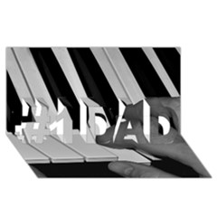 The Piano Player #1 DAD 3D Greeting Card (8x4)