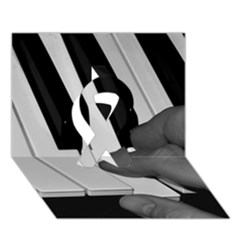 The Piano Player Ribbon 3D Greeting Card (7x5)