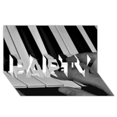 The Piano Player Party 3d Greeting Card (8x4)