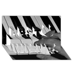 The Piano Player Best Wish 3d Greeting Card (8x4)