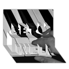 The Piano Player Get Well 3d Greeting Card (7x5)
