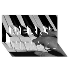 The Piano Player Merry Xmas 3D Greeting Card (8x4)