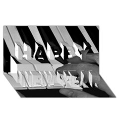 The Piano Player Happy New Year 3D Greeting Card (8x4)