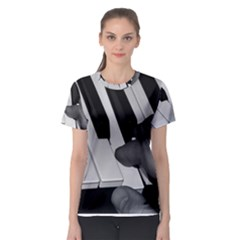 The Piano Player Women s Sport Mesh Tees