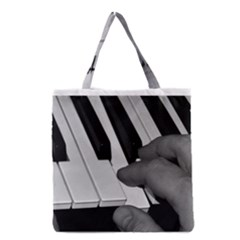 The Piano Player Grocery Tote Bags