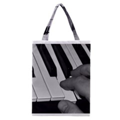 The Piano Player Classic Tote Bags